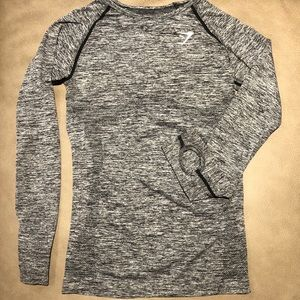Gymshark Grey Seamless Long Sleeve